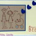 carte de naissance garçon papa maman et moi