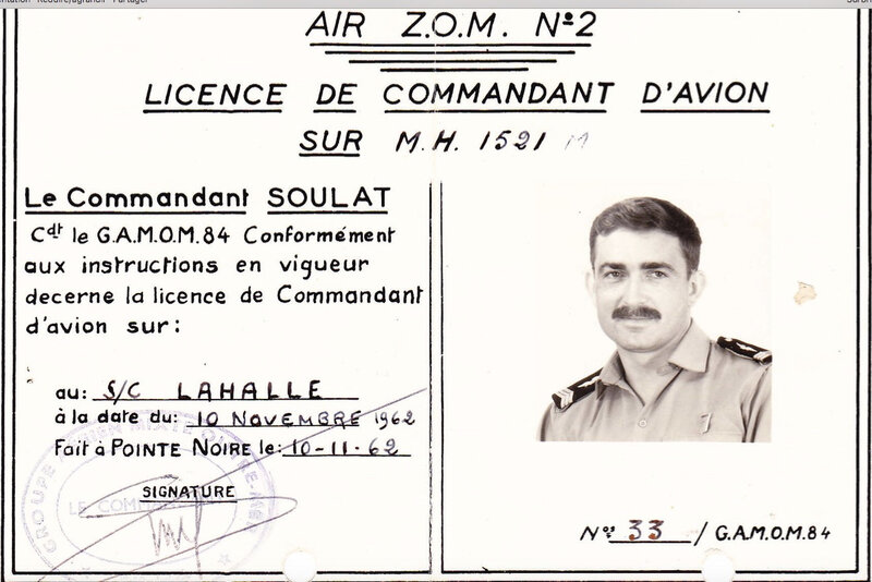 Lahalle-Commandant-avion-1962