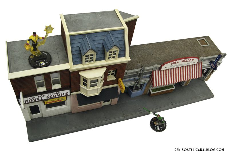 Hill Valley main street back to the future bttf heroclix remi bostal scenery miniature (3)