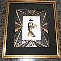 Geisha noire et or