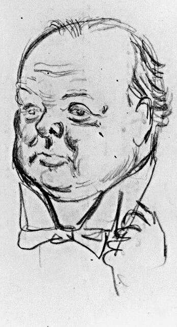 1926-caricature de Winston Churchill