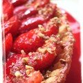 Tarte aux fraises sur sabl breton