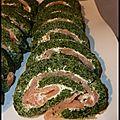 Roulés au saumon et aux épinards