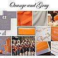 Orange + gris