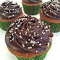 Cupcakes topping chocolat