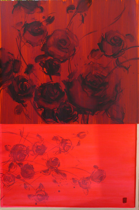 les roses et fluo