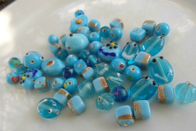 perles fancy turquoise 5
