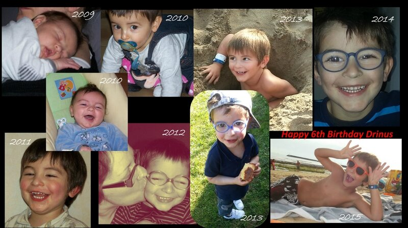 collage adrien 6th birthday