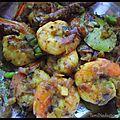 Yeera varuval - crevettes sautées.
