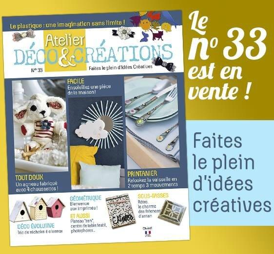 O'Perla dans le magazine Ateliers déco et créations...