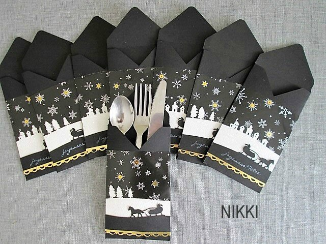 Mes d cos de table scrap de nikki - Porte couvert noel ...