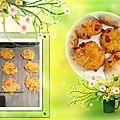 Cookies aux carottes, courgettes, feta et dés de jambon