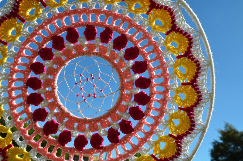 Attrape rêve-mandala -crochet-La chouette bricole (14)