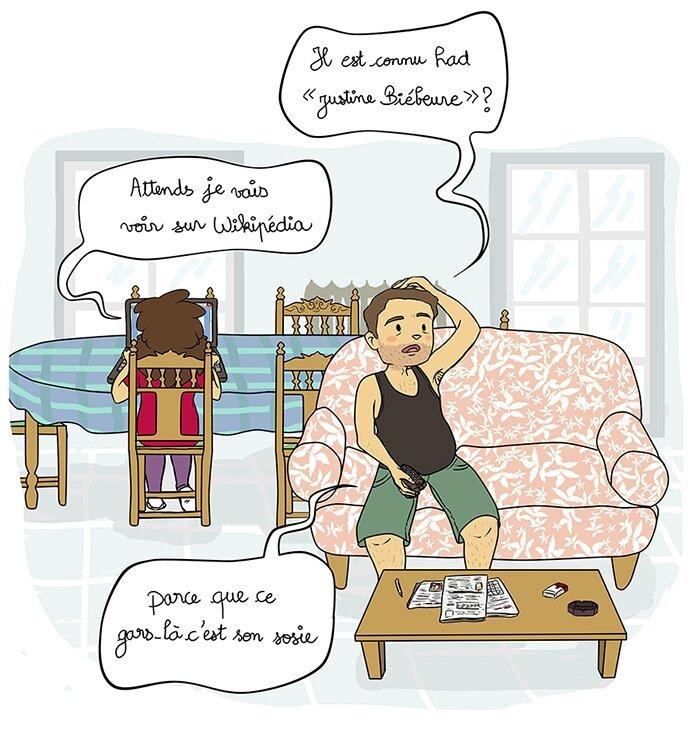 Delou_télé_justin_bieber