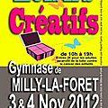 Salon de loisirs créatifs 3 et 4 novembre à milly la forêt