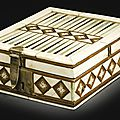 Embriachi workshop, italian, venice, 15th century, games box with backgammon and chess