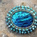 pendentif abalone turquoise