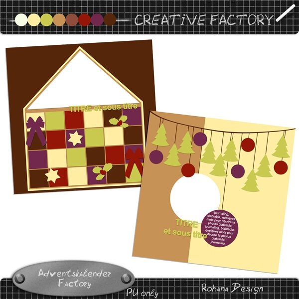 RD Creative Adventskalender templates