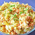 Salade coleslaw carotte chou blanc raisin