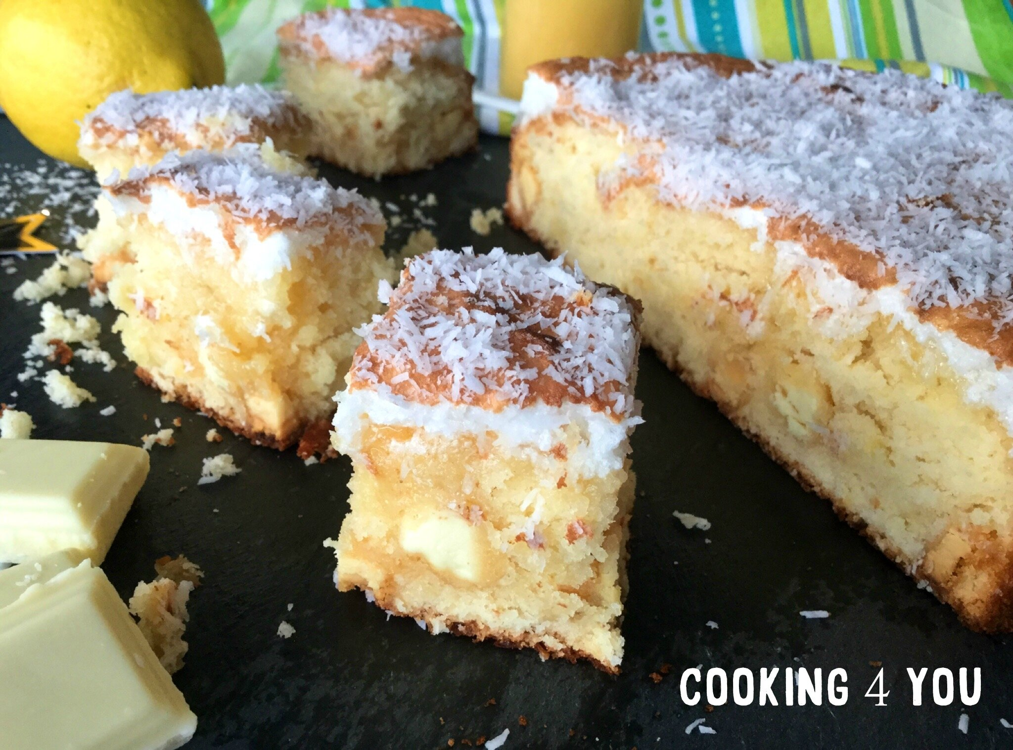 Brownie façon citron meringué/chocolat blanc
