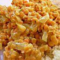 Dahl de lentilles corail au lait de coco et curry