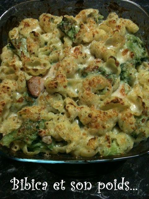 Gratin de p tes au poulet et brocolis bibica 39 s cooking - Gratin de pates poulet ...