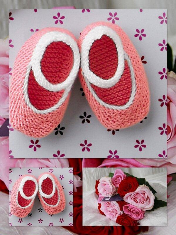 chaussons bébé fleur