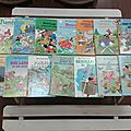 Vieille collection de livres disney