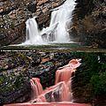 L'eau rouge aux chutes d'eau cameron ...