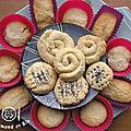 biscuits sablés en fleur
