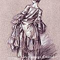 femme de dos, d'après Boucher