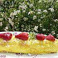 Gâteau roule a la confiture de framboises