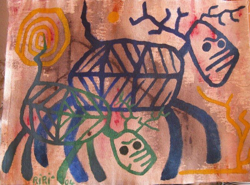 RIRI Elans squelettes 2004 53,5 x 73