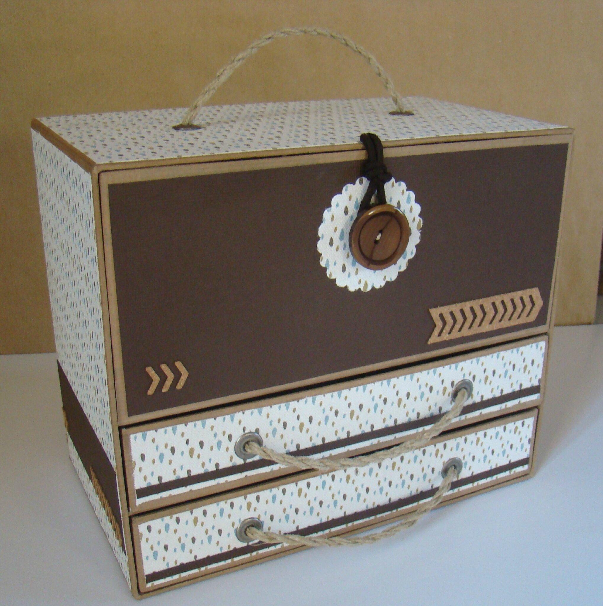 Anniversaire du blog boite de rangement pour encres et - Boite en carton decoree ...