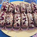Cakes à la rose et aux framboises