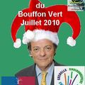 Jean-louis borloo est le bouffon vert de juillet 2010