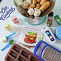 Mini tartelettes de pommes de terre aux allumettes de bacon et champignons