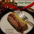 Foie gras en terrine et confiture de figues sèches
