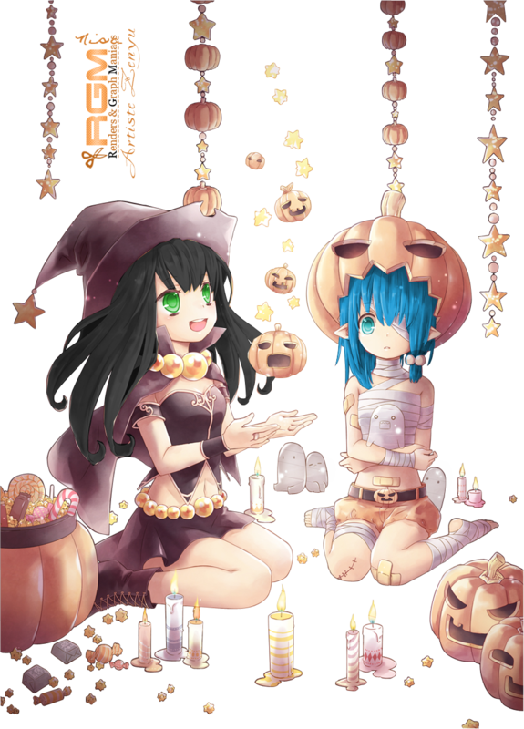lola_&_lily_render_halloween