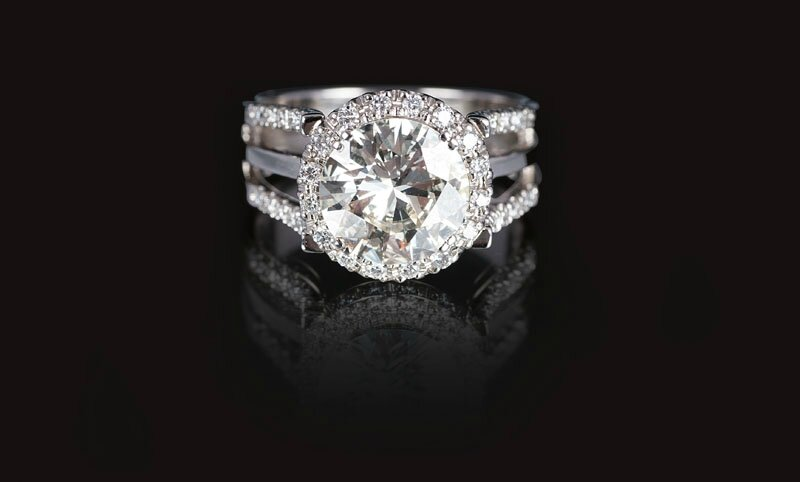 A 18 carat solitaire diamond ring