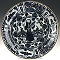 Plate of semiporcelain in chinese style: persia, c. 1600