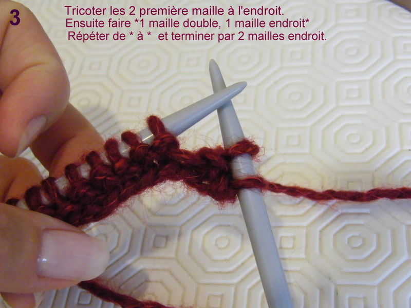 comment tricoter maille anglaise