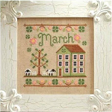 High-Quality-Cross-Stitch-Kits-Comfort-March-House-Free-Shipping