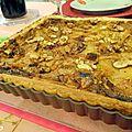 Tarte au roquefort /poires et noix