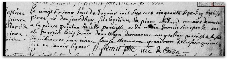 Abeilard Pierre baptême z