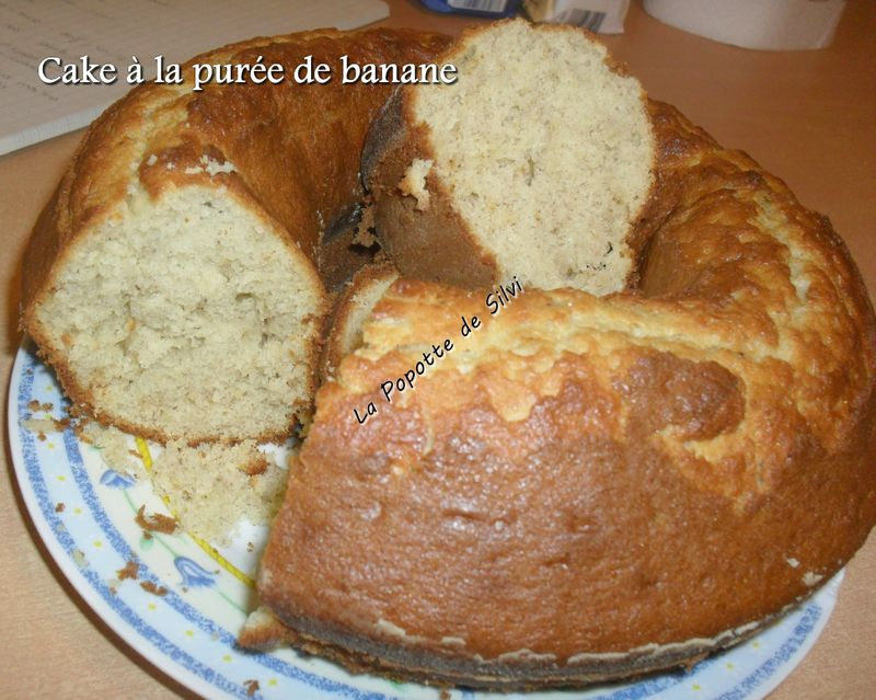 cake la pur e de bananes recette de chez darna la popotte de silvi. Black Bedroom Furniture Sets. Home Design Ideas