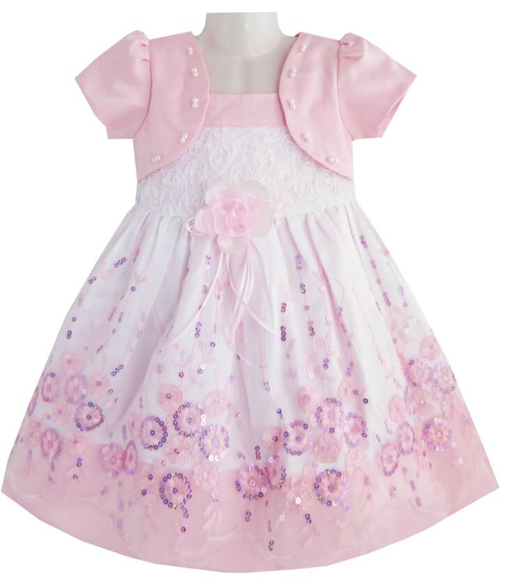 "Robe fillette ""lisette"" rose 24 mois"