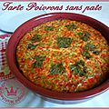 Tarte poivrons sans pâte (weight watchers)