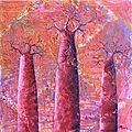 Baobabs carmin