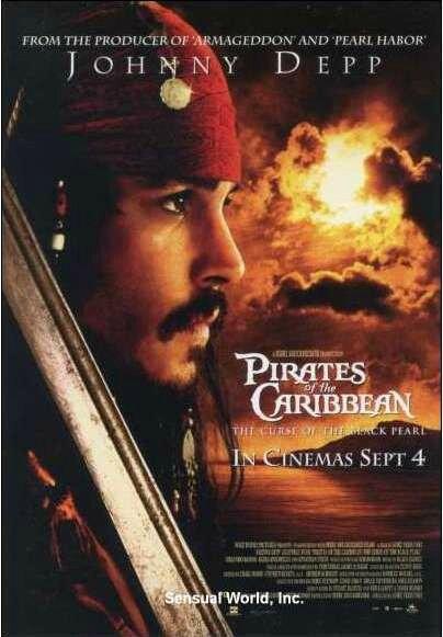 Carte postale Affiche film Pirate des Caraïbes Jack Sparrow